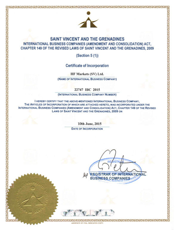SV-Certificate