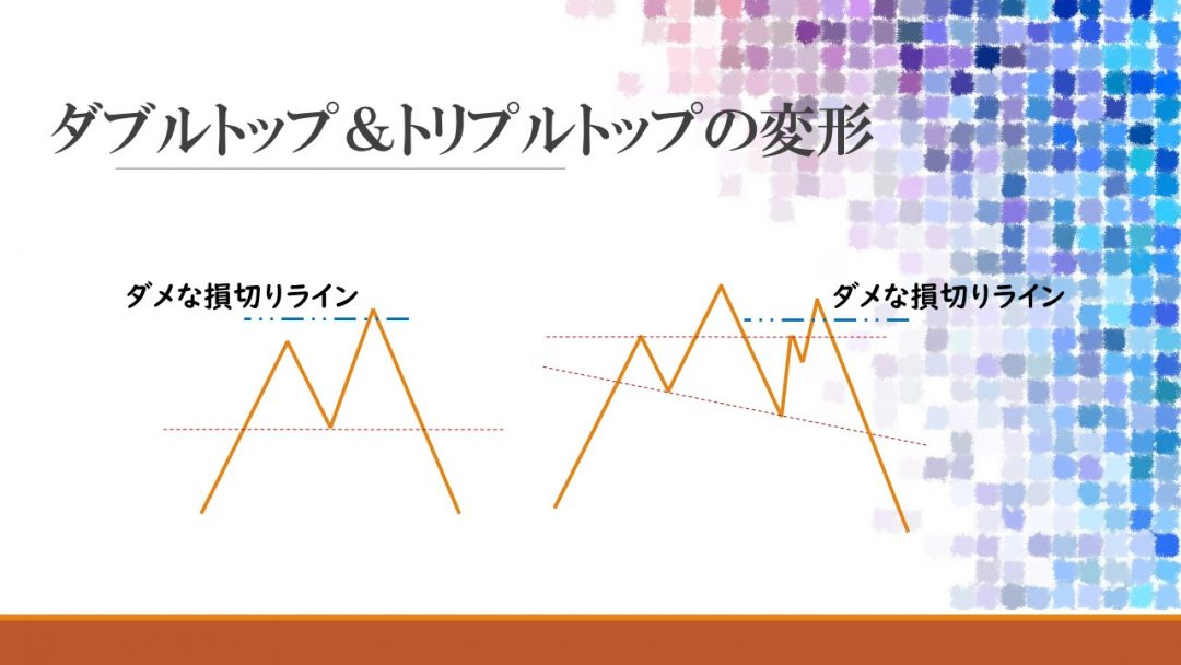 ダブルトップ トリプルボトム 変形パターン